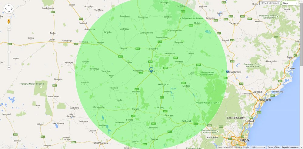 Map of Dubbo Pest Management area
